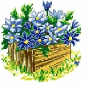71085,19 Синие цветы - мозаика Anya
