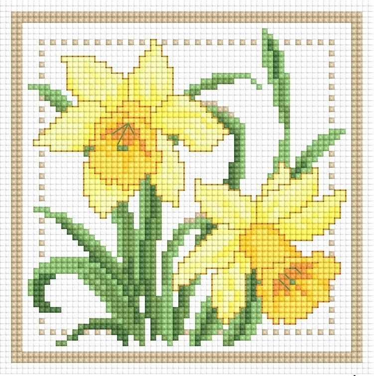 71085,23 Нарциссы - мозаика Anya