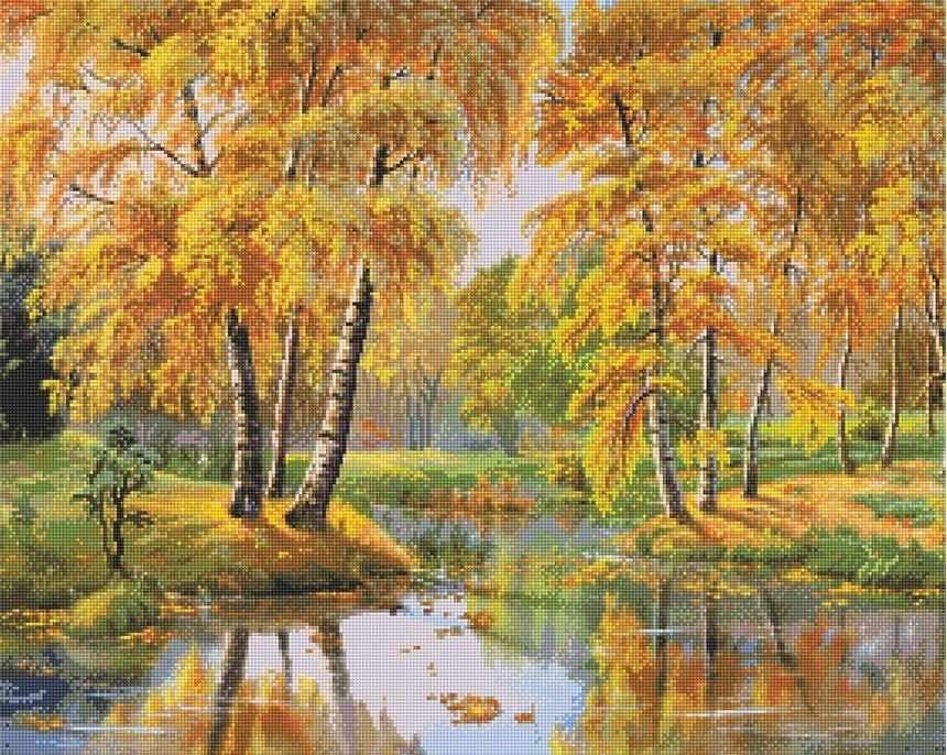 71108,14 Озеро в осеннем лесу - мозаика Anya