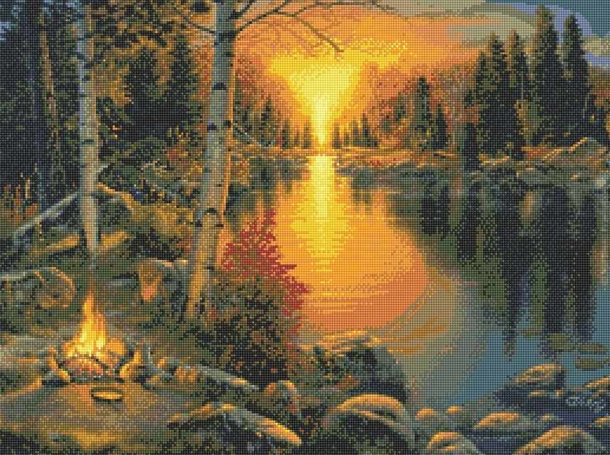 71108,15 Закат у реки - мозаика Anya