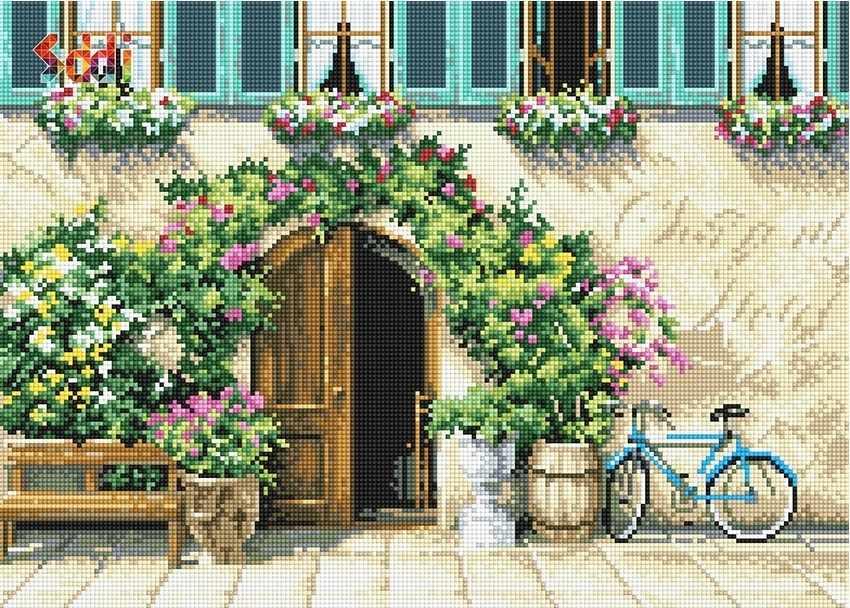 71132,20 У входа в особняк - мозаика Anya