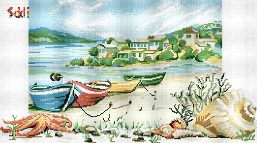 71178,02 Лодки на берегу - мозаика Anya