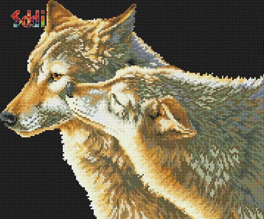72029,01 Волчья нежность - мозаика Anya