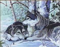 72029,04 Волки в лесу - мозаика Anya
