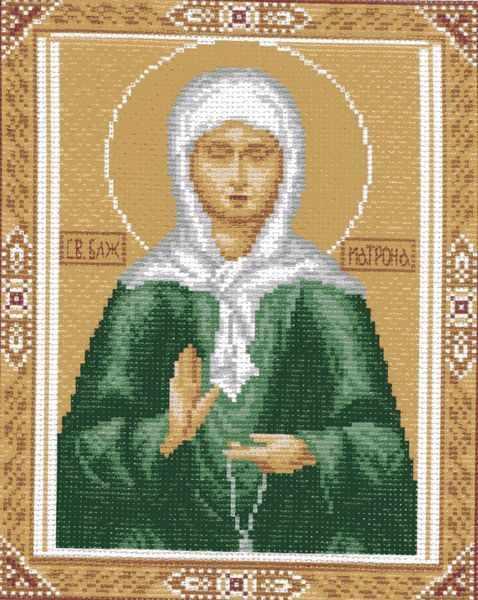 722 Св. Матрона - рисунок на канве (МП)