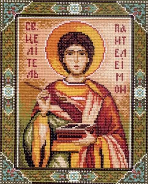 723 Св.Пантелеймон -рисунок на канве (МП)