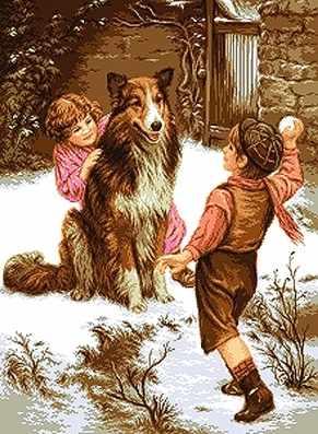 738 Дети с собакой