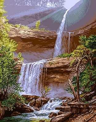 740 Водопад