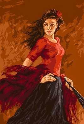 742 Танцовщица фламенко