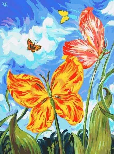 755-AS-С Бабочки (Белоснежка)