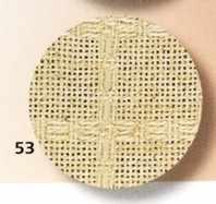 7642 Campari (60%полиэ+40%лен) цвет 53-лён, шир 170, 28ct-112кл/10см (Узор-салфетка)
