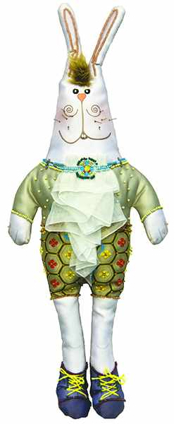 8001 Зайка Харитон - текстильная игрушка (МП)