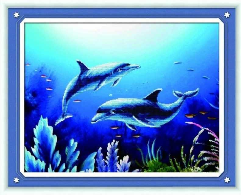 80228-1 Дельфины (Honey home)