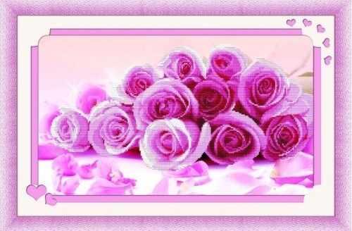 80355 Розовые розы (Honey home)