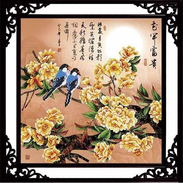 80412 Птицы среди цветов (Honey home)