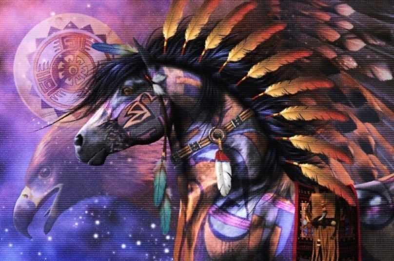8060-16 Индейский конь (Белоснежка)