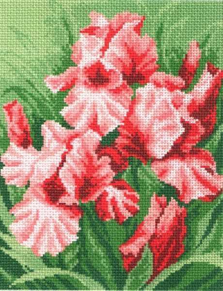 808 Красные искры - рисунок на канве (МП)
