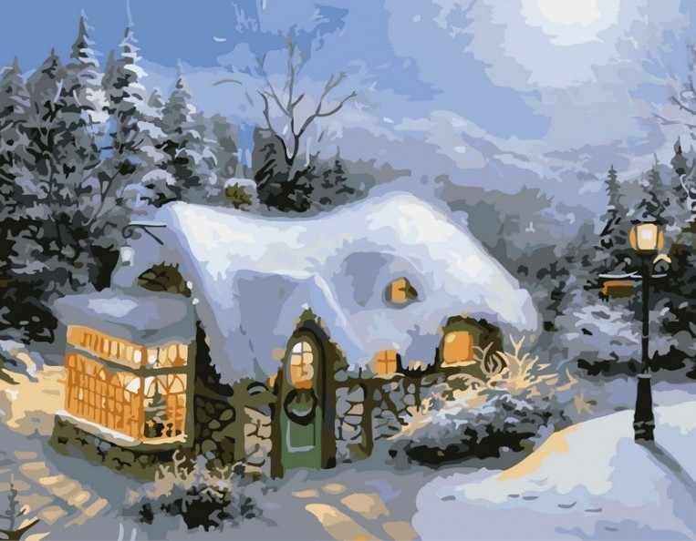 831-AB Зимний вечер (Белоснежка)