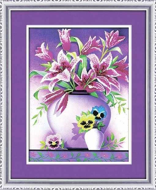8344 Лилии - мозаика Anya