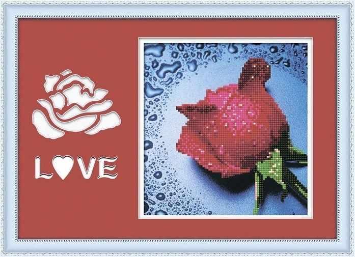 8359 Красная роза - мозаика Anya
