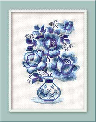 839 «Гжель. Розы»