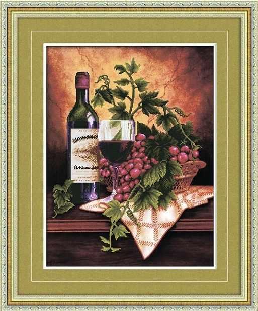 8415 Натюрморт с вином  - мозаика Anya