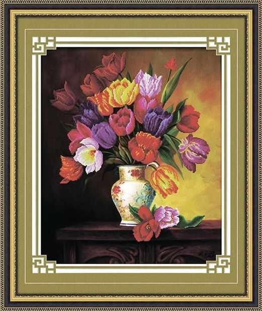 8416 Весенний букет - мозаика Anya