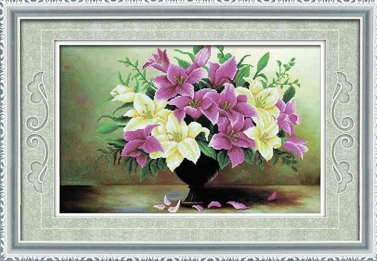 8421 Букет лилий - мозаика Anya