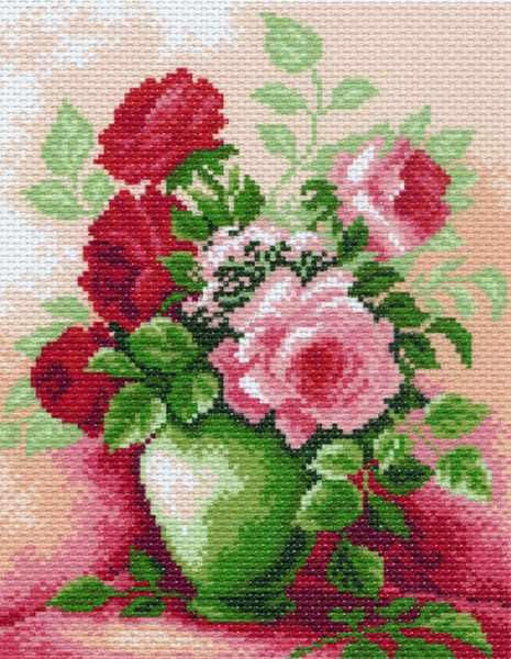 844 Розы в вазе (МП)