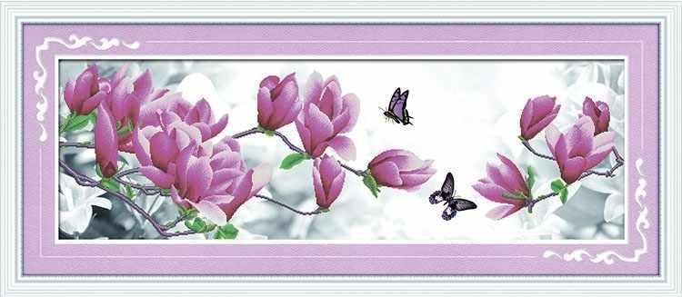 8472 Цветы и бабочки - мозаика Anya