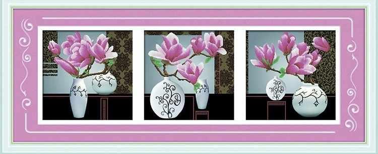 8475 Розовые цветы - мозаика Anya
