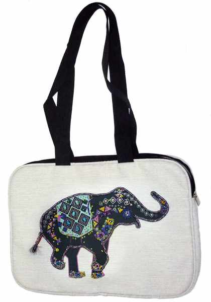 8511 Слон Флора - текстильная сумка (МП)