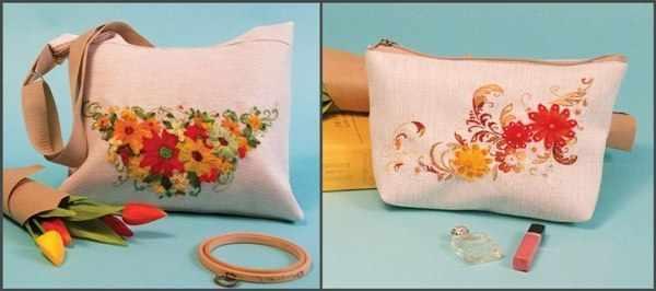 8514-8515 Набор для шитья и вышивания - текстильная сумка+косметичка (МП)