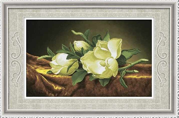 8524 Белые цветы - мозаика Anya
