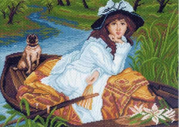 856 Прогулка - рисунок на канве (МП)