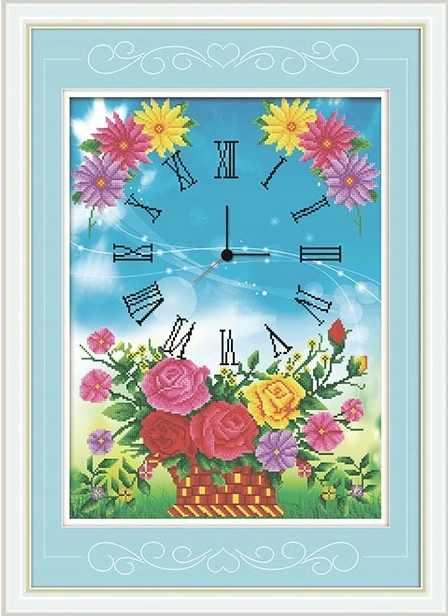 8585 Часы в цветах - мозаика Anya