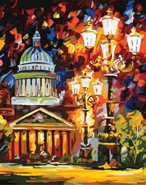 872-АВ Мерцание ночи Санкт-Петербурга - раскраска (Белоснежка)