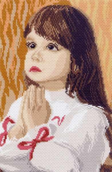 878 Молитва - рисунок на канве