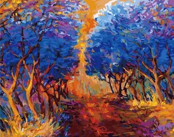 885-АВ Осенний лес (Белоснежка)