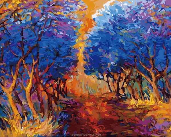 885-АВ-С Осенний лес (Белоснежка)