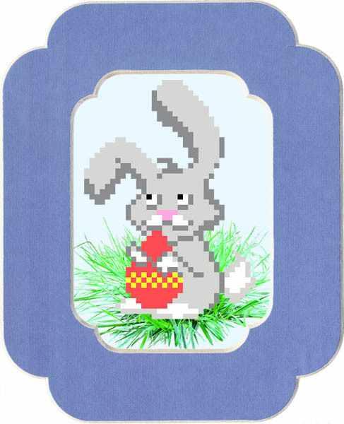 90/БП Пасхальный кролик - набор для вышивания (МП)