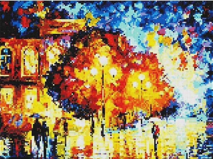902501 Осенняя улица - мозаика Anya