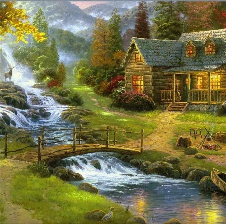 905901 Летний пейзаж - мозаика Anya