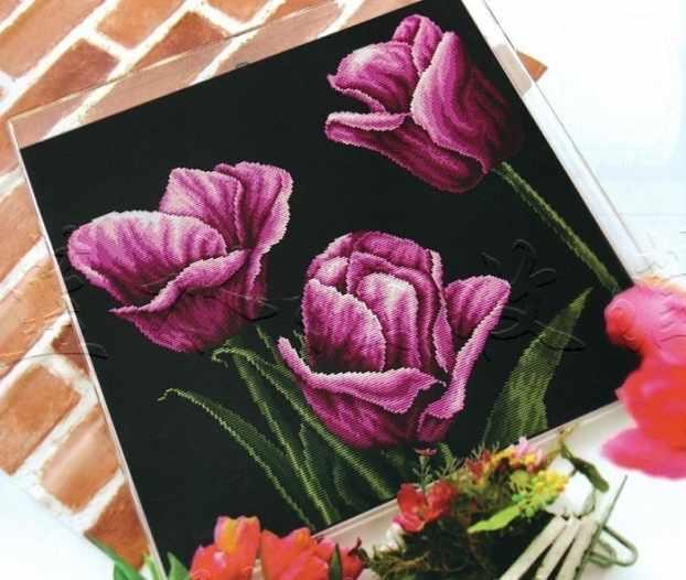 """90807 """"Purple tulip"""" (DOME)"""