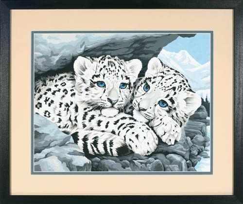 """91079 DMS """"Детеныши снежного леопарда"""" - раскраска"""