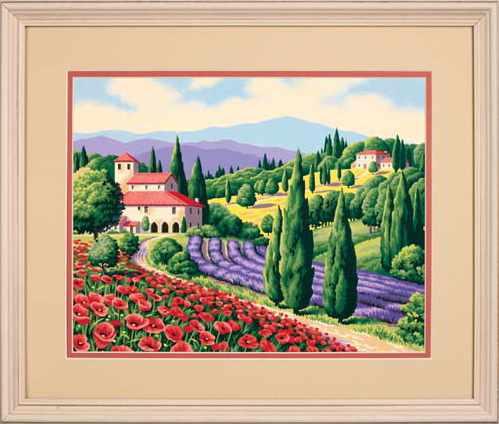 "91317 DMS ""Тосканский пейзаж"" - раскраска"