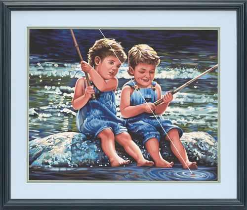 "91414 DMS ""Мальчики рыбаки"" -  раскраска"