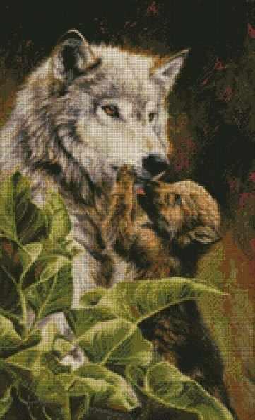 """98707 """"Волчица с детёнышем"""" Kkrafts"""