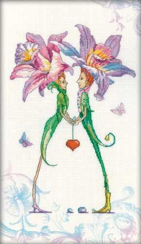 M70005 Пара любящих сердец