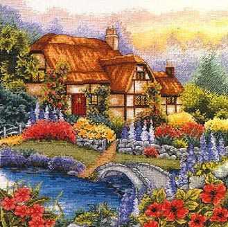 PCE927 Сад с мостиком
